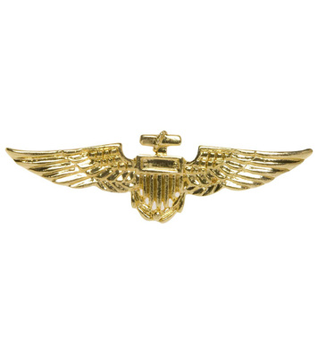 AVIATOR BROOCH GOLD