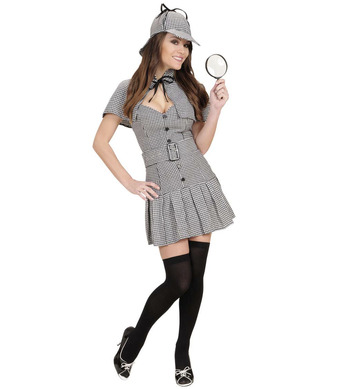 DETECTIVE GIRL (dress belt capelet hat)