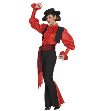 SPANIARD WOMAN (shirt vest pants belt hat)