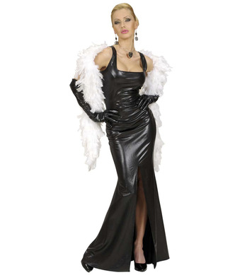 STRETCH COCKTAIL DRESS BLACK (dress gloves)