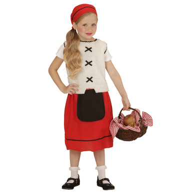 PEASANT GAL (vest skirt pouch headscarf) Childrens