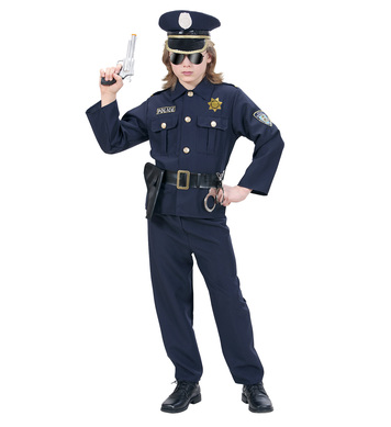 HEAVY FABRIC POLICEMAN (coat pants belt  hat) Childrens