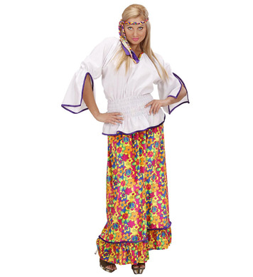 VELVET HIPPIE WOMAN (shirt skirt headband)