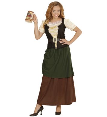 MEDIEVAL WENCH (shirt w/corset skirt w/overskirt belt)