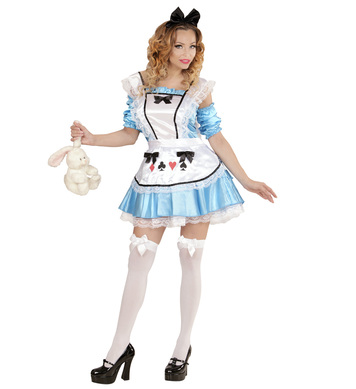 WONDERLAND GIRL (dress w/underskirt sleeves apron bow h