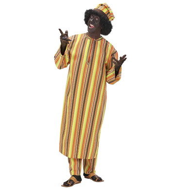 AFRICAN MAN HEAVY FABRIC (tunic pants hat)