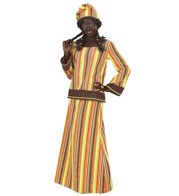 AFRICAN WOMAN HEAVY FABRIC (coat skirt hat)