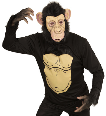 CHIMPANZEE (jersey with plush hair mask w/plush hair)