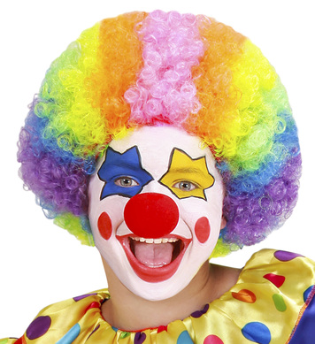 CLOWN WIG MULTI COLOURED - CHILD SIZE