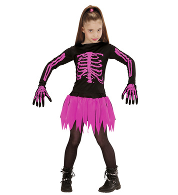 BALLERINA SKELETON (top skirt gloves) Childrens