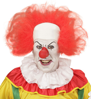 CLOWN HEADPIECE WITH RED HAIR