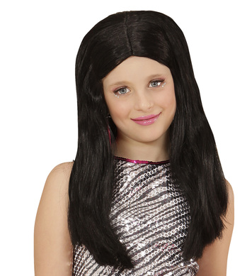 BLACK HANNAH WIG in polybag