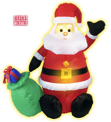 INFLATABLE LIGHT UP SANTA CLAUS (European Plug attached)