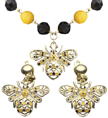 BEE NECKLACE & EARRING SET