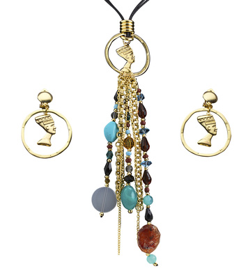 CLEOPATRA NECKLACE & EARRING SET