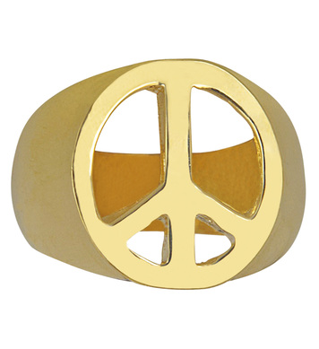 GOLD PEACE & LOVE RINGS