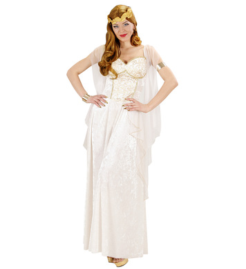 GREEK GODDESS (dress w/veils laurel)