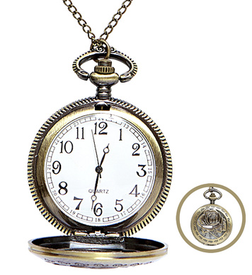 POCKET WATCH WITH CHAIN STEAM PUNK