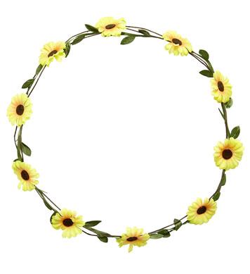 YELLOW DAISY FLOWER DIADEM - HARD / ADJUSTABLE