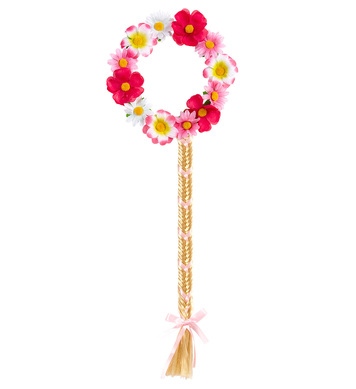 FLOWER DIADEM WITH FLOWER PLAIT