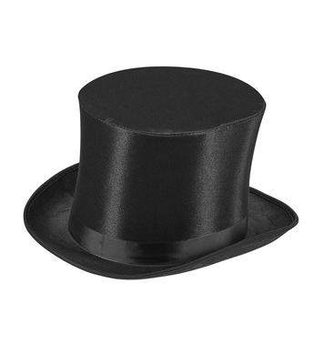 DANDY SATIN TOPPER HAT WITH BAND - H 15cm