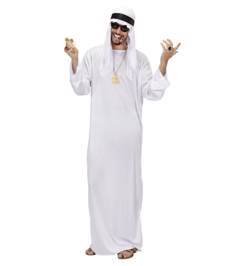 ARAB SHEIK - WHITE (tunic headdress)