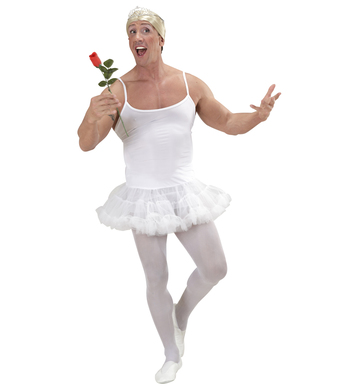PRIMA BALLERINA - WHITE MENS M/L (tutu dress)
