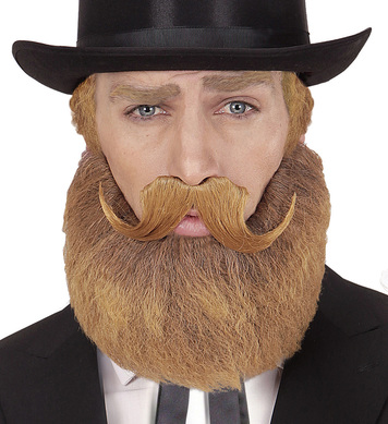 BLONDE BEARD AND MOUSTACHE