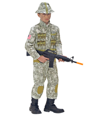 ARMY SOLDIER (coat pants helmet) Childrens