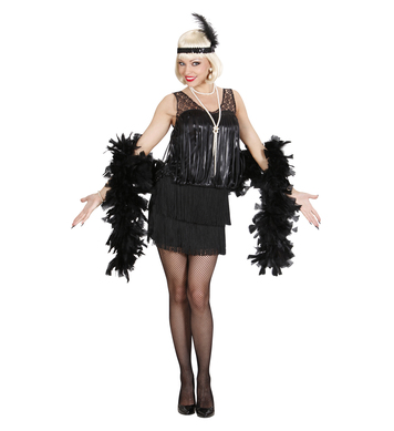 BLACK ROARING 20s FLAPPER (dress headband)