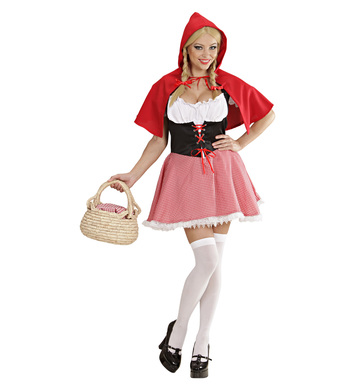 RED CAPELET COSTUME (dress hooded capelet)