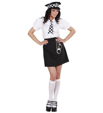 BRITISH POLICE GIRL (skirt shirt tie hat handcuffs)