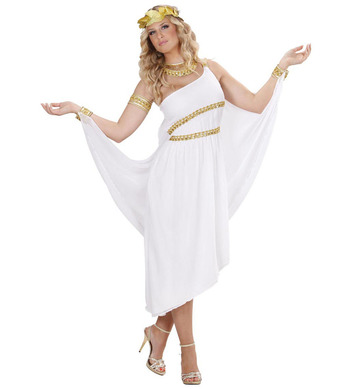 GREEK GODDESS (dress w/cape cuffs collar armlet wreath)