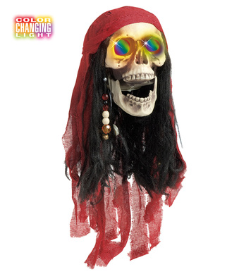 COLOUR CHANGING PIRATE SKULLS 60cm