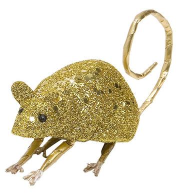 GOLD GLITTER MICE 9cm