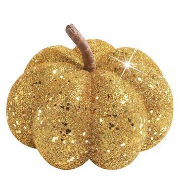 GOLD GLITTER PUMPKINS 15cm