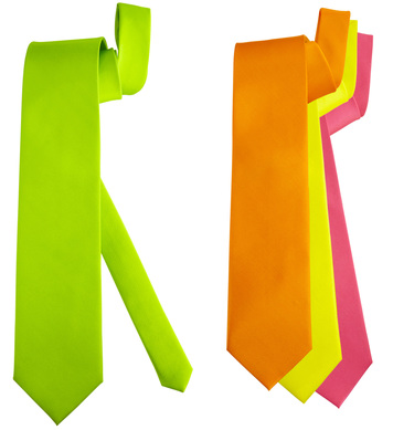 NEON NECKTIE (orange/pink/green/yellow)