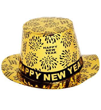 TOP HAT NEW YEAR PRINT - GOLD