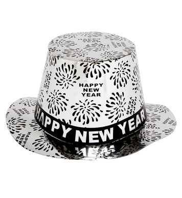 TOP HAT NEW YEAR PRINT - SILVER