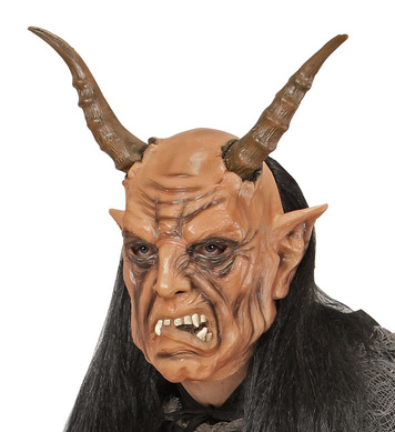 DEVIL MASK WITH WIG