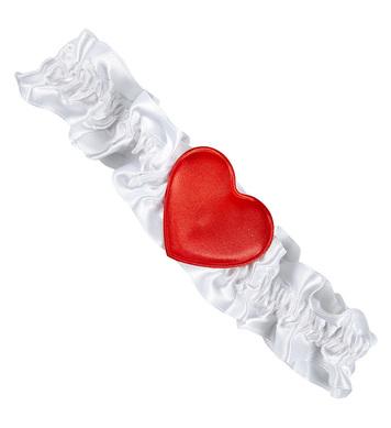 GARTER - WHITE HEART