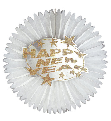 NEW YEAR PAPER FAN DIA 55cm - 2 colours
