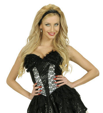 BLACK SEQUIN & LACE CORSET