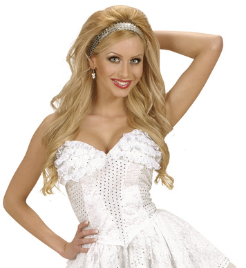 WHITE SEQUIN & LACE CORSET
