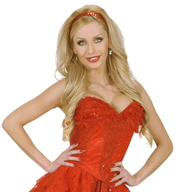 RED SEQUIN & LACE CORSET