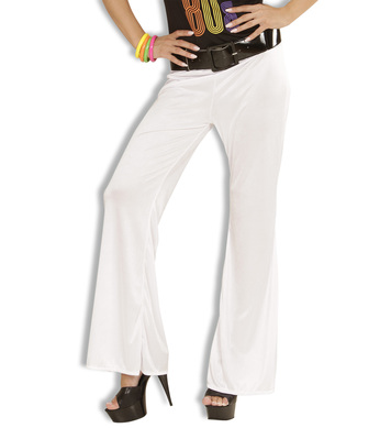 BELL BOTTOMS LADIES M - WHITE