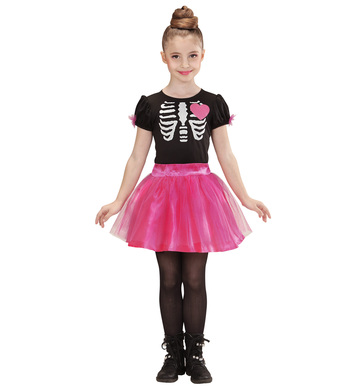 BALLERINA SKELETON GIRL (dress) Childrens