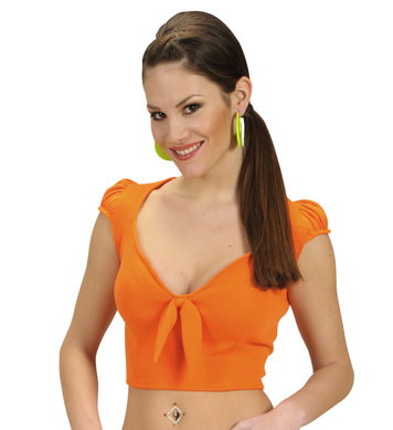 COTTON RIBBON TOP - ORANGE