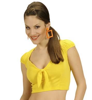 COTTON RIBBON TOP - YELLOW