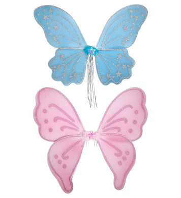 GLITTER FANTASY WINGS (blue/pink) - 50x47cm approx